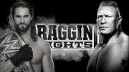 Brock Lesnar battles Seth Rollins in a Title vs