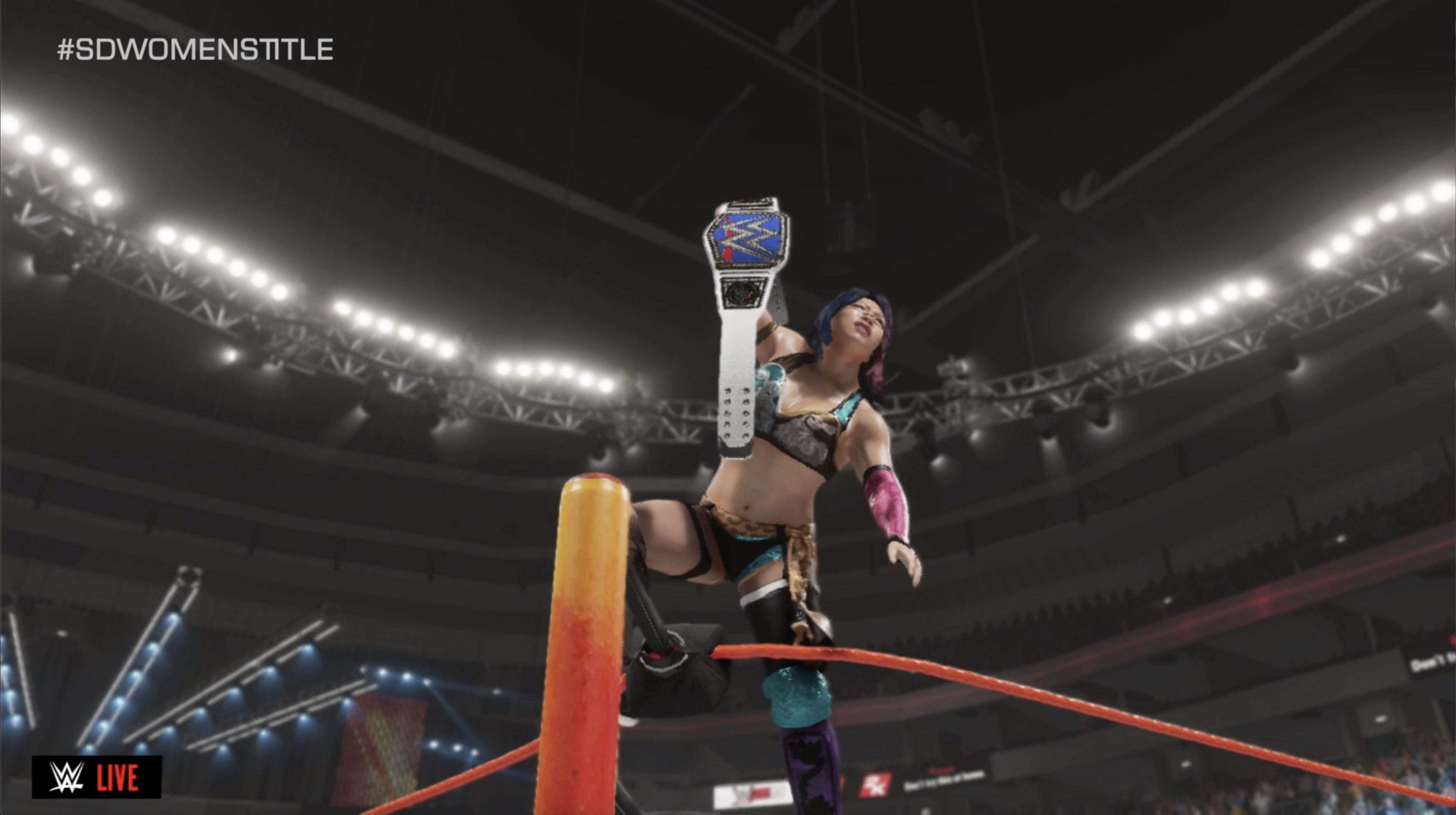 Asuka wins the Smackdown Women's Championship at Judgment Day Year IV.png