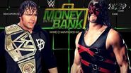 Dean Ambrose defends the WWE Title against Kane at MITB (WWE 2K16 Universe Mode)