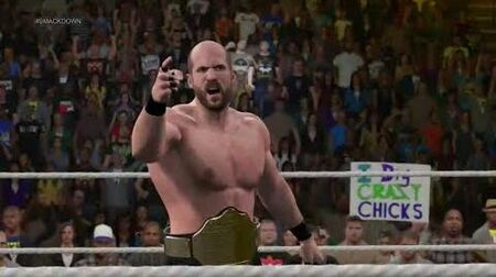 """-WWE2K15_-_Universe_Mode_(Episode_25)_-_Smackdown!_-_The_Swiss_delievers_""""The_News"""""""