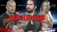 Seth Rollins defends the WWE World Title in a Triple Threat at Battleground (WWE 2K17 Universe Mode)