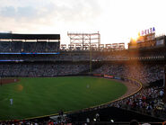 Sunset over the Delta Scoreboard - Turner Field, Atlanta GA, June 09