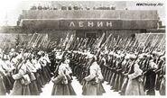 Возле Мавзолея Ленина