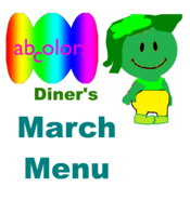 ABColors Diner's March Menu