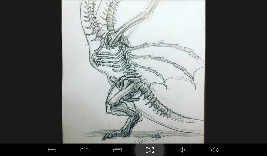 El esqueleto de King Ghidorah