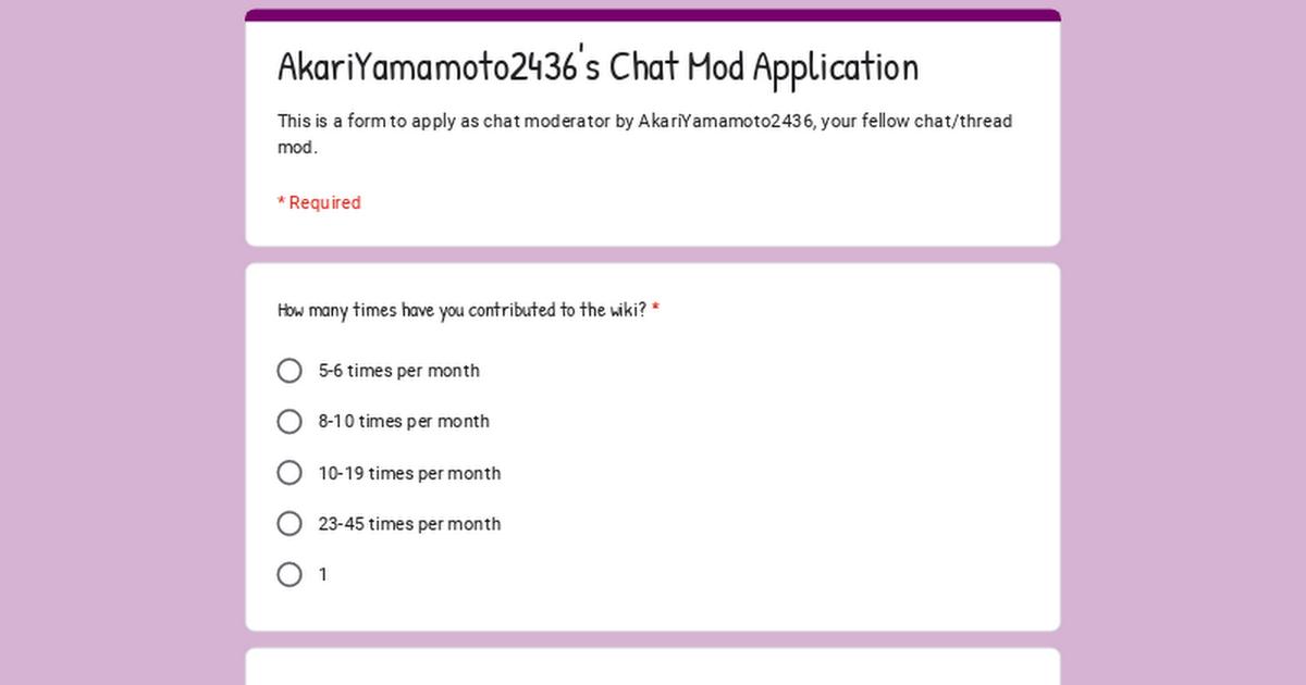 Mod application