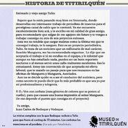 Museo de Titirilquén-Carta de invitación