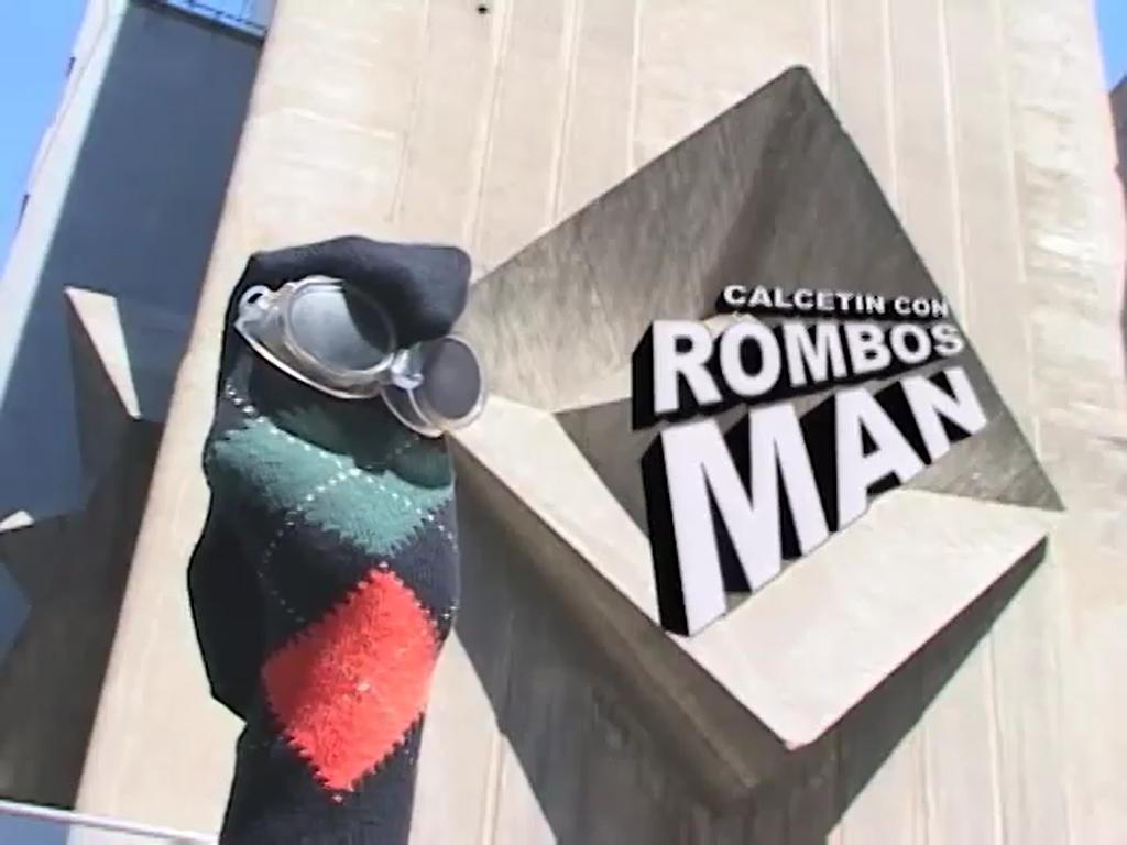 Calcetín con Rombos Man (Sección)