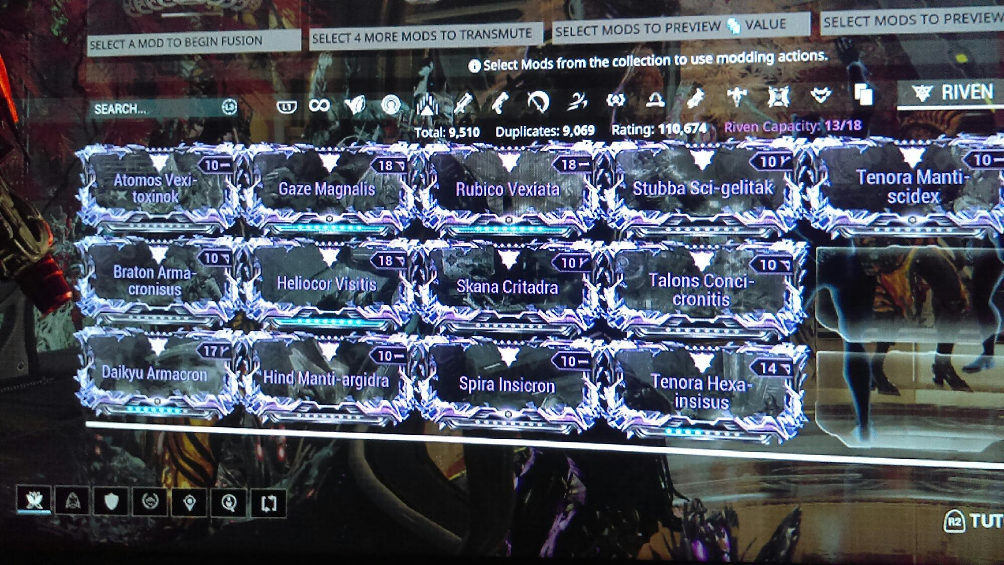 WTS riven mods [PS4]