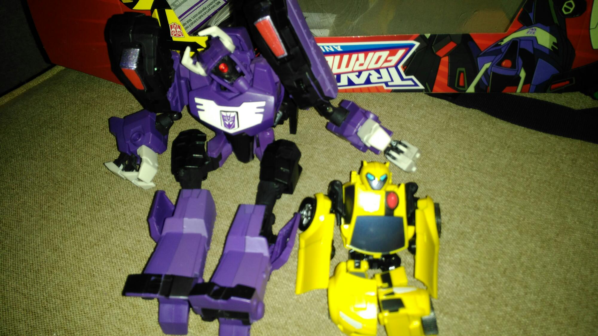 best purchase ever, TFA Shockwave V. Bumblebee- i have no money for tfcon now, xD