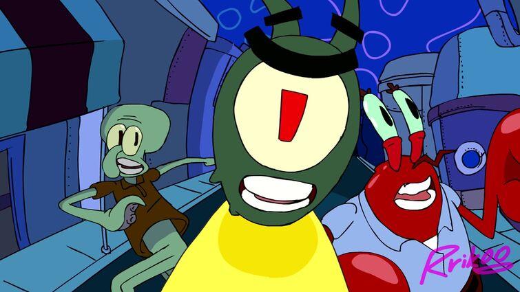 Plankton uses ZA WARUDO