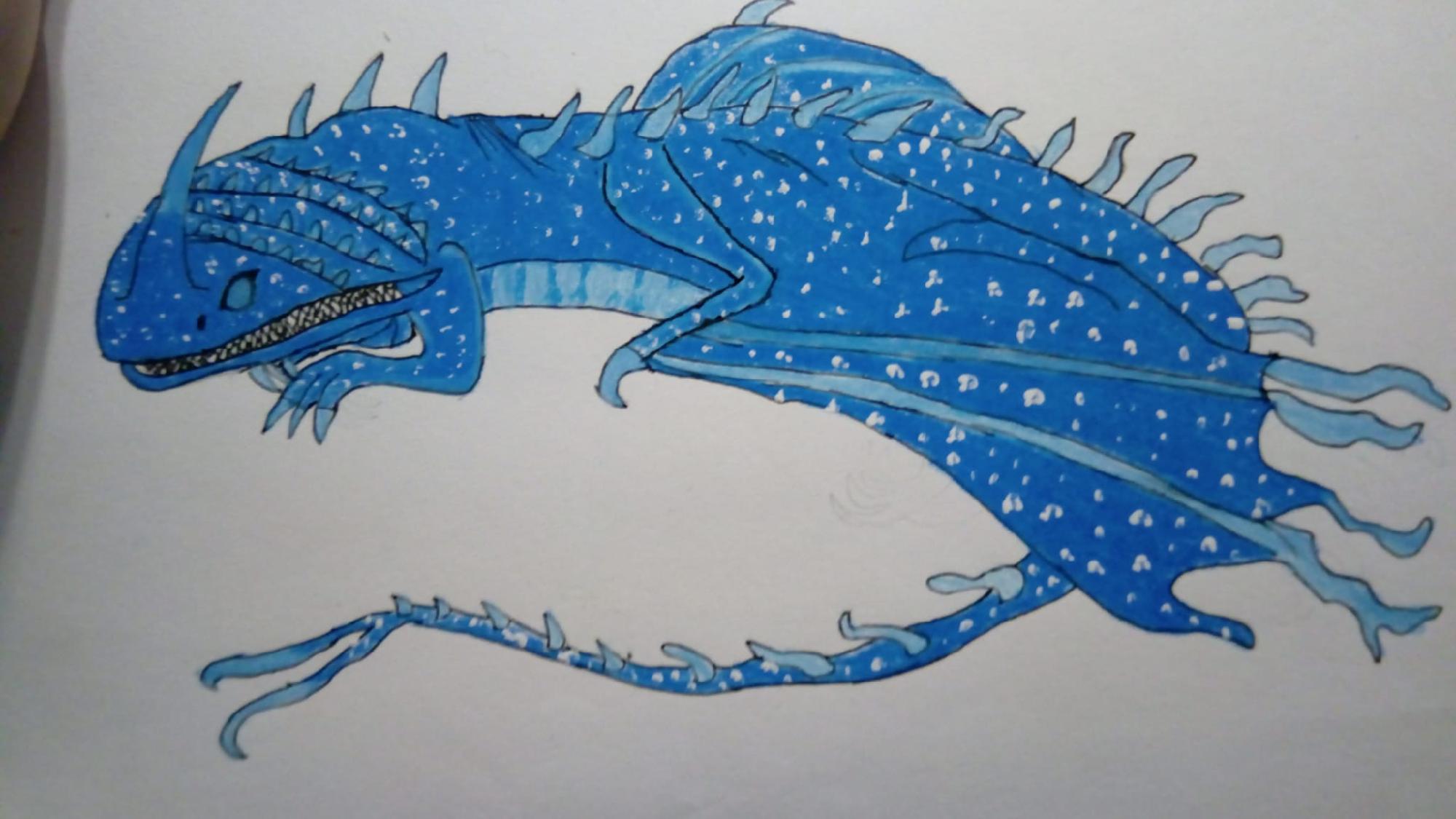 Dibujo libro de dragones pesadilla voladora.