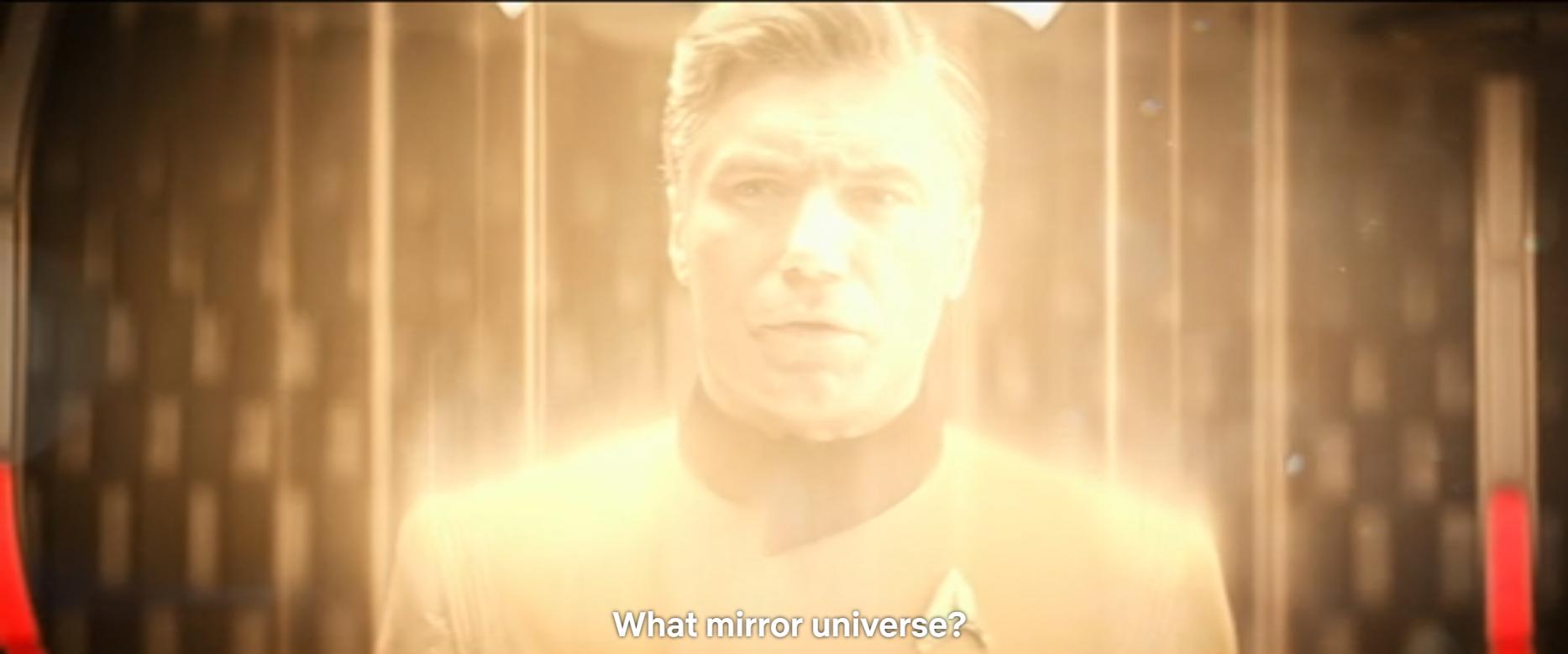 Mirror universe...