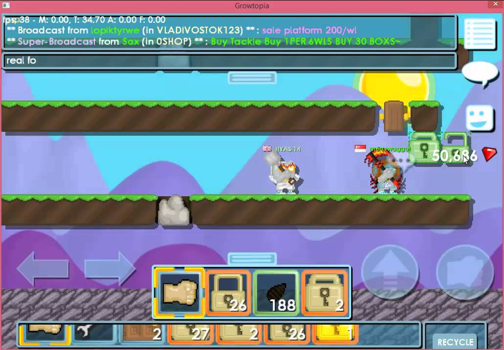 "Growtopia - How to make a ""HELP BREAK"" zone fast."
