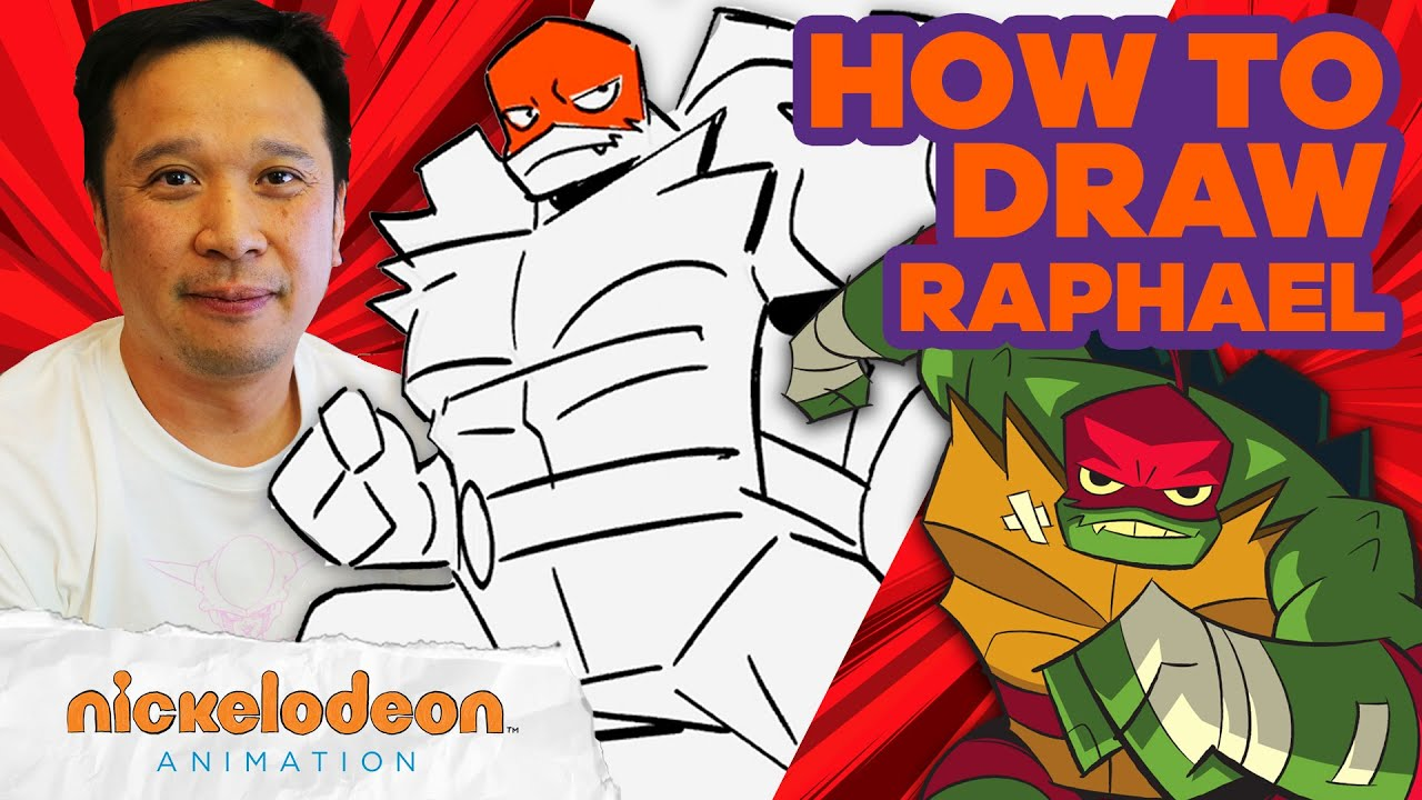 How to Draw Raphael ✍️ | Draw Along w/ Alan Wan 🎨 | Rise of the TMNT