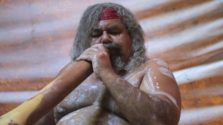 Traditional Didgeridoo Rhythms by Lewis Burns, Aboriginal Australian Artist