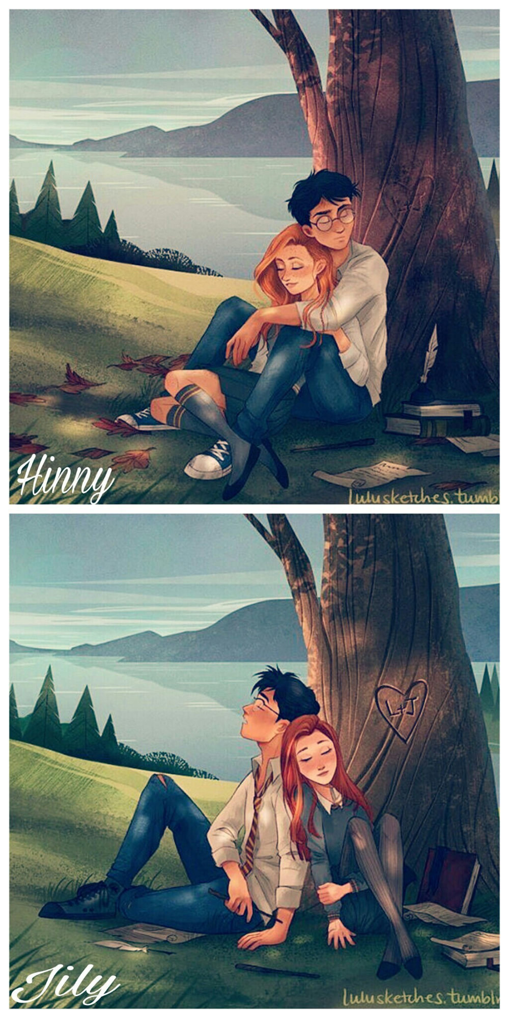 This is my favorite Harry Potter fan art so like if you agree (or if you at least think it's cute!!)