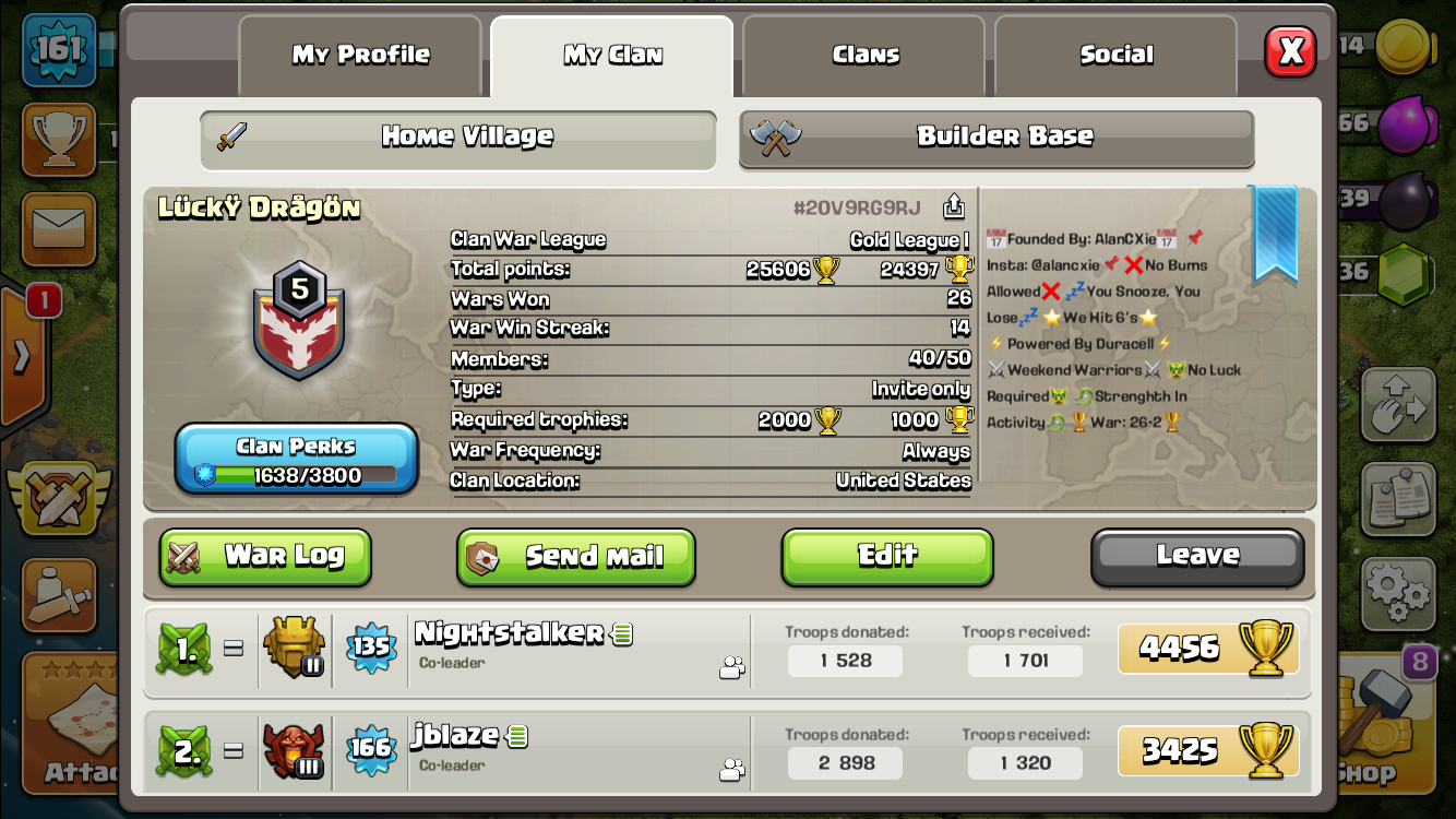 That's our clan.Beast at war.Friend the leader if interested/Instagram @alancxie,More info prev post