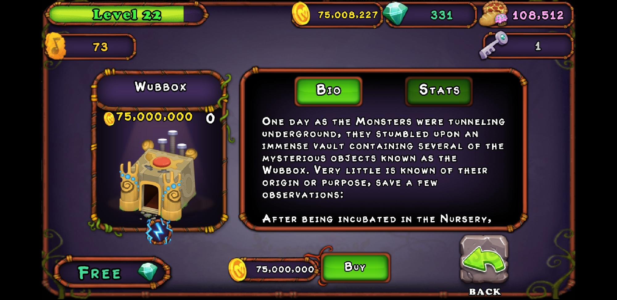 I have enough for my first Wubbox!