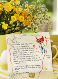 The letter Alistair wrote to Grace when he was a young boy.