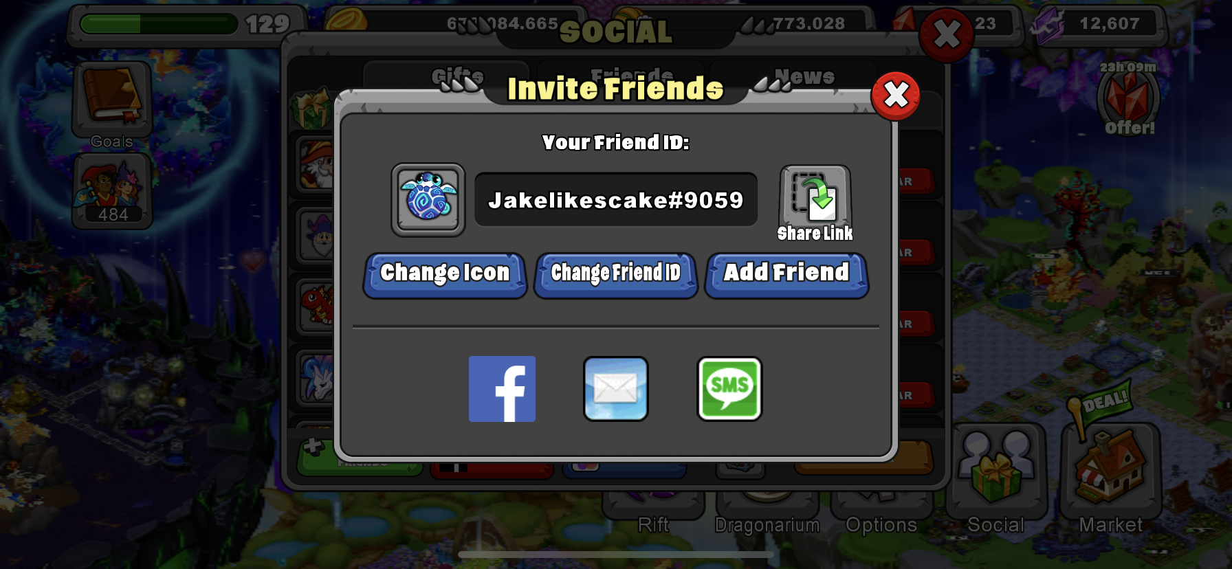 Looking for high level friends who wanna send gems and help me finish up getting all my dragons!