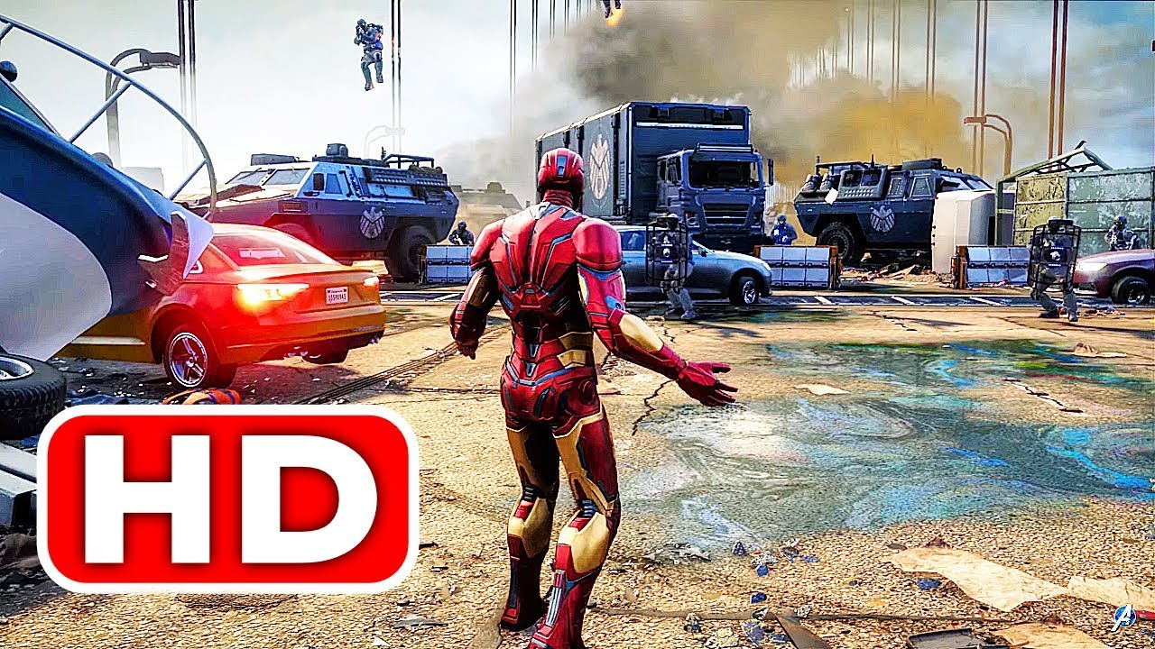 AVENGERS Gameplay Demo FULL Walkthrough (2019) Iron Man, Black Widow, Thor, Captain America HD