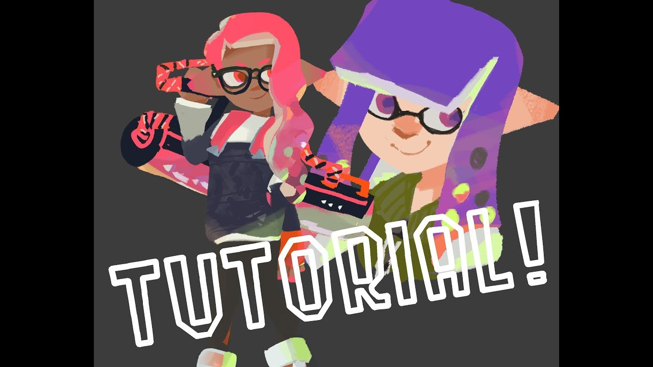 How to draw the Splatoon 2 art style