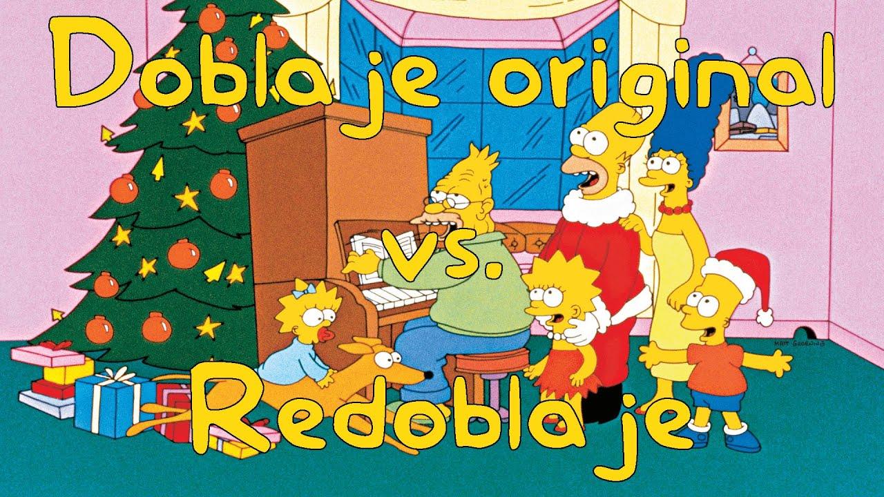 Doblaje original vs.  Redoblaje: Los Simpson - 1x01 - Especial de Navidad (Español Latino)