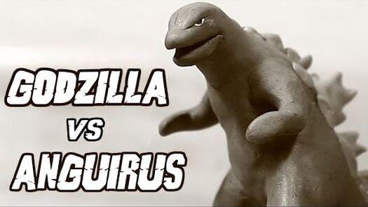 Godzilla vs Anguirus | Kaiju Claymation Fight
