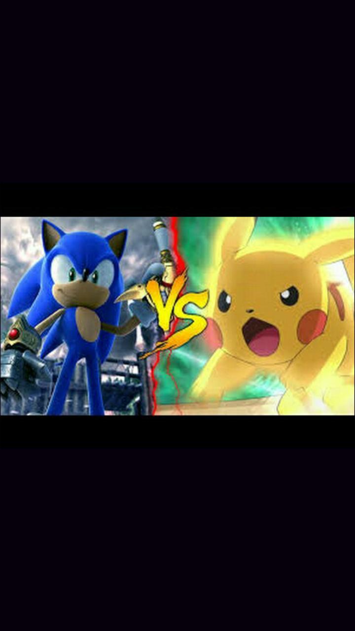 Gente quem vocês acham que vai ganhar? Sonic ou Pikachu?