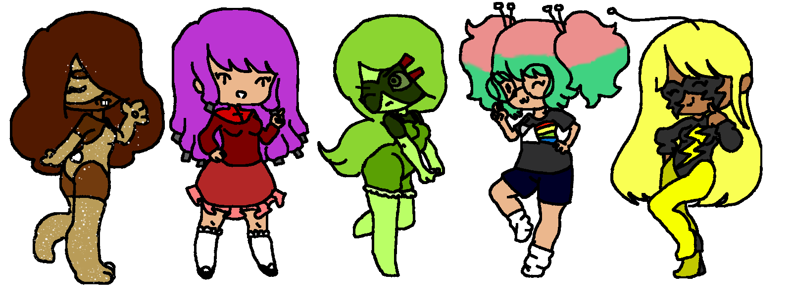 I drew all of my OC's! comment if you want to know more about any of them!