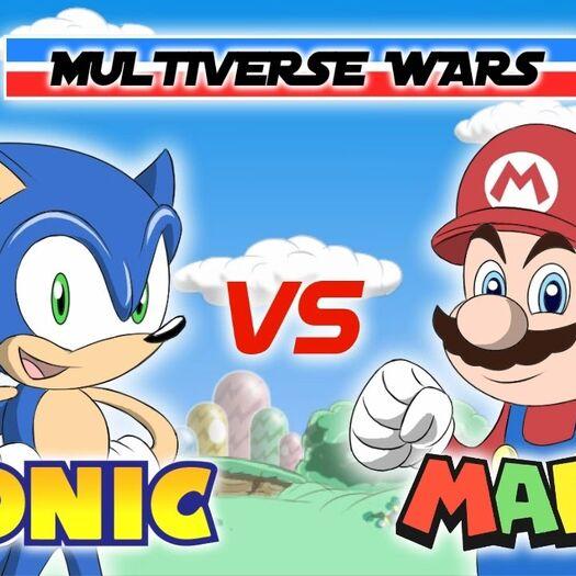 Super Mario vs Sonic the Hedgehog Animation - MULTIVERSE WARS