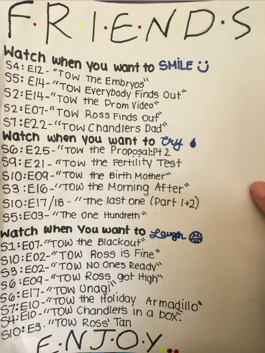 Here is something to help you decide what episodes to watch depending on your mood