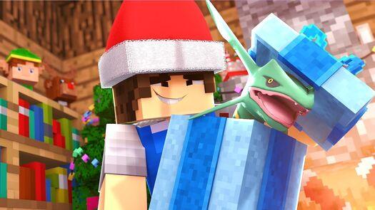 Minecraft: PRESENTE DE NATAL - POKEMON CHAMPIONS Ep. 16 ‹ Caique Vieira ›