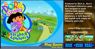 Dora The Explorer Backpack Adventure 3D Title.png