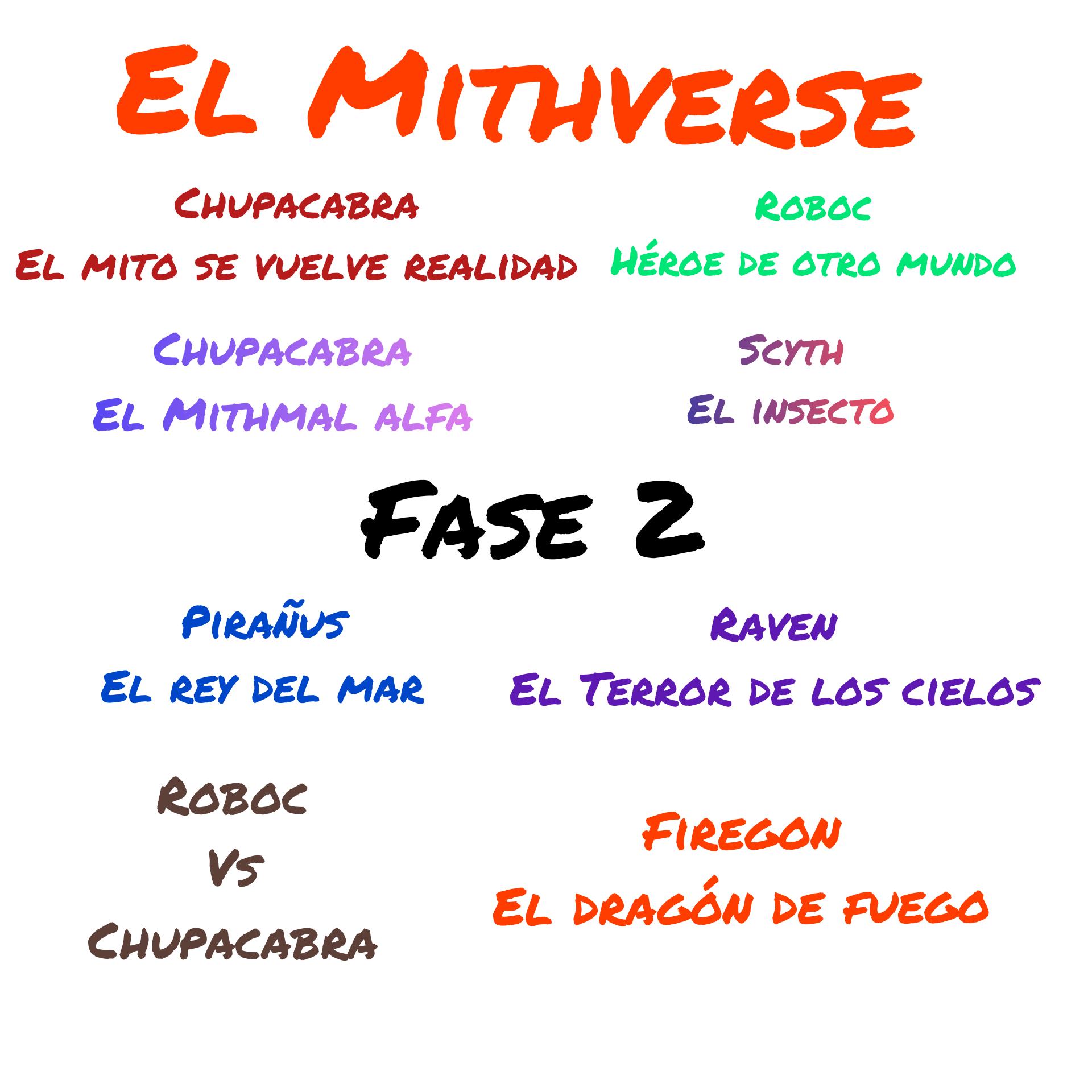 Primeras 2 fases del Mithverse