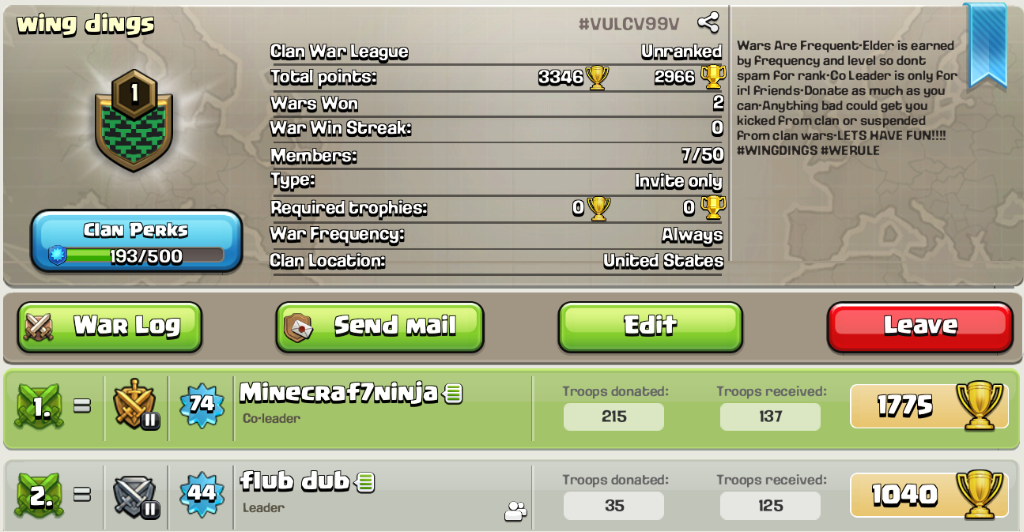 New clan with TH 5-8