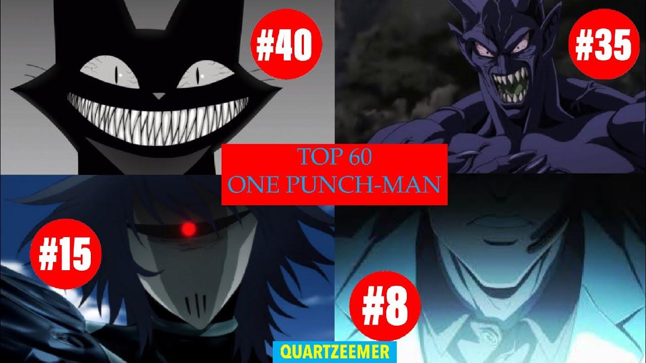 TOP 60 DES PERSONNAGES LES PLUS PUISSANTS DE ONE PUNCH-MAN !