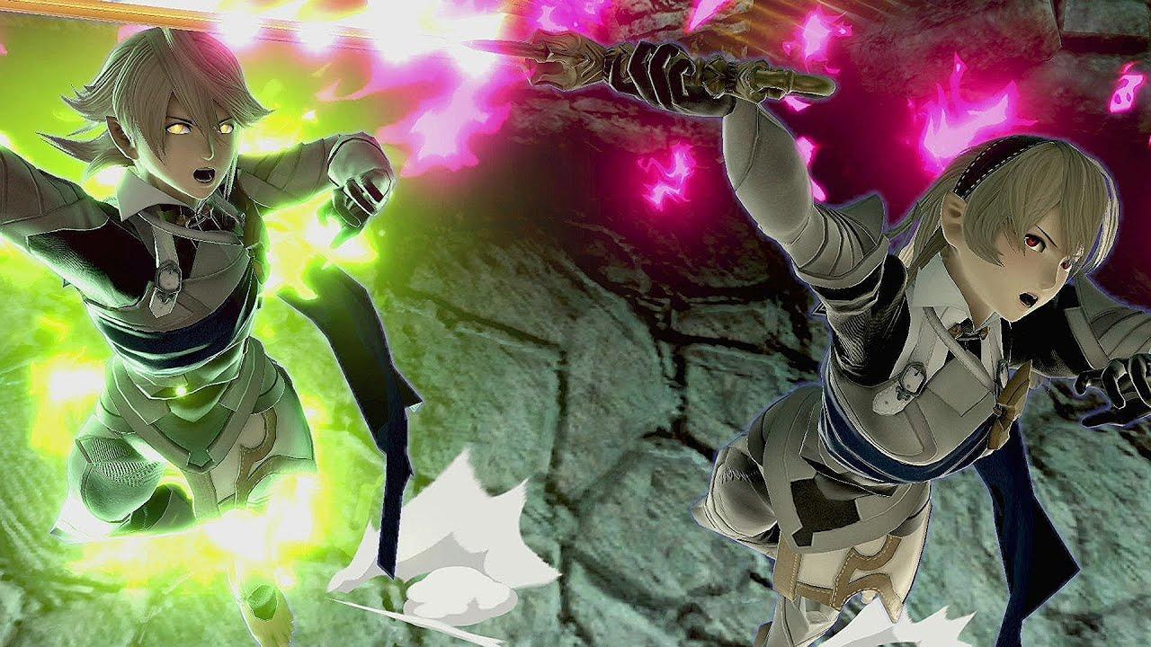 [FanArt] Corrin Vs Dark Pit (Smash Ultimate) {Real Battle-Like}