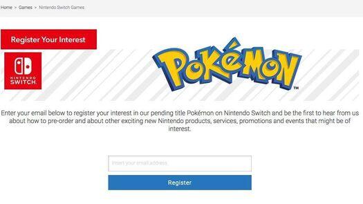 Suscríbete a la lista de Nintendo para recibir noticias de Pokémon Switch
