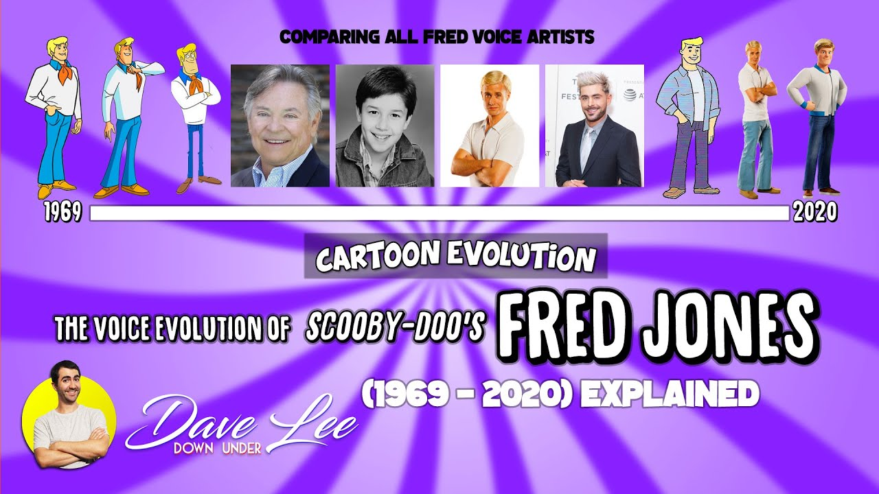Voice Evolution of FRED JONES (SCOOBY-DOO) - 51 Years Compared & Explained | CARTOON EVOLUTION