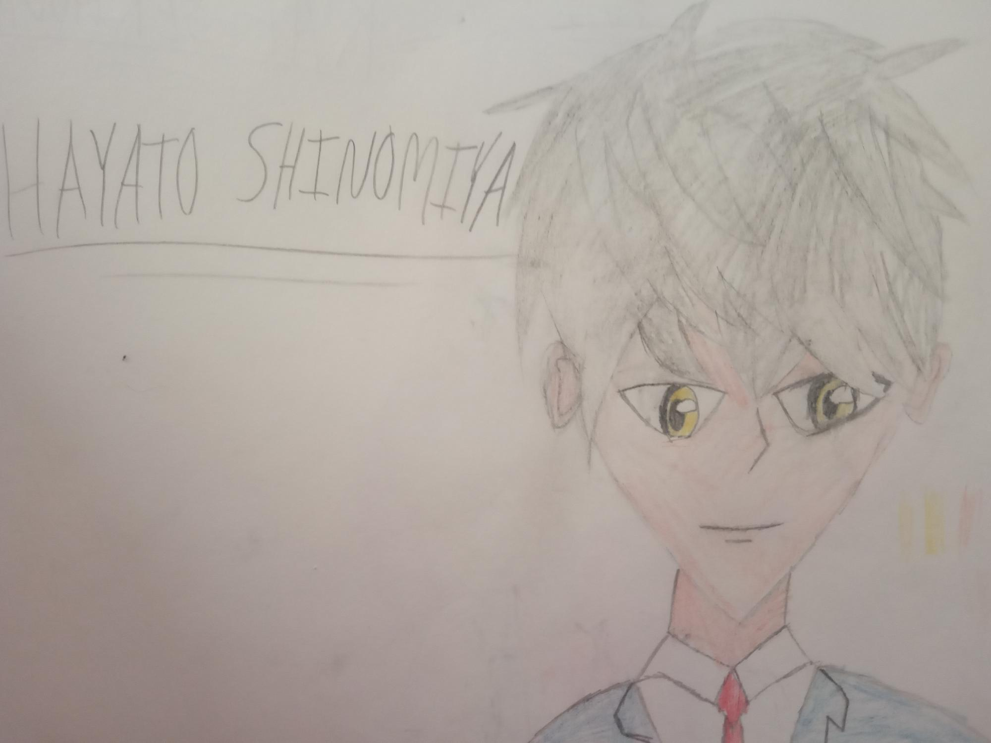 Hayato Shinomiya from 'kiss him not me' - Only a quick sketch from memory.