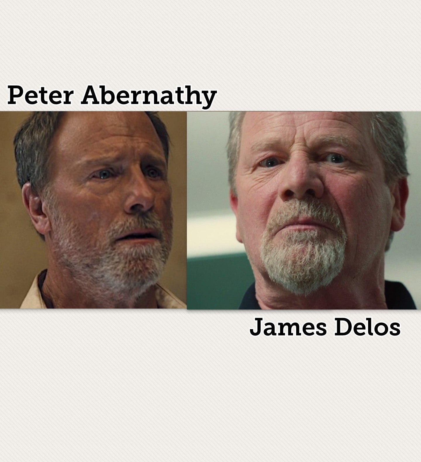 Any possible connection: Peter Abernathy & James Delos?