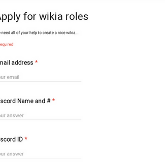 Apply for wikia roles
