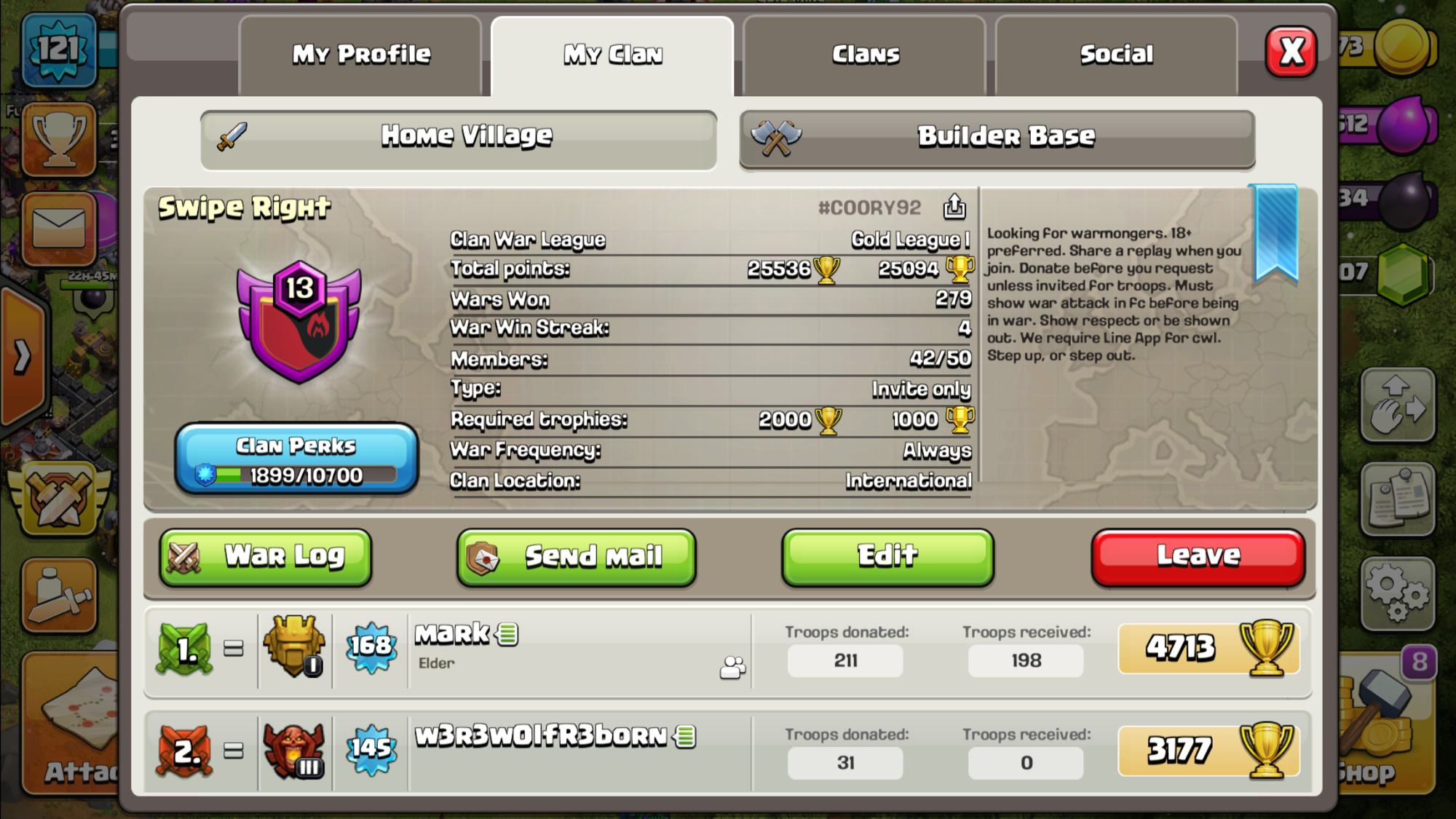 Looking For TH10+ Which Are Interested In Doing CWL, Normal Wars In Our Main Clan⬇️  CWL In Sister.