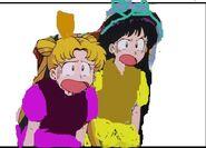 Serena and raye as anastasia and drizella