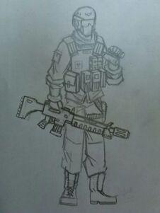Soldado del 34º Tronia