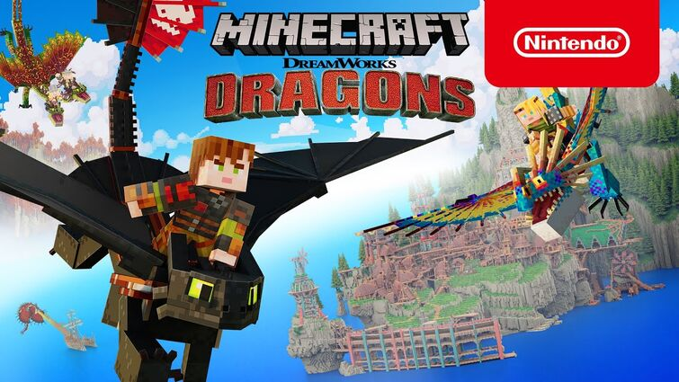 Minecraft - DreamWorks How to Train Your Dragon DLC: Official Trailer - Nintendo Switch