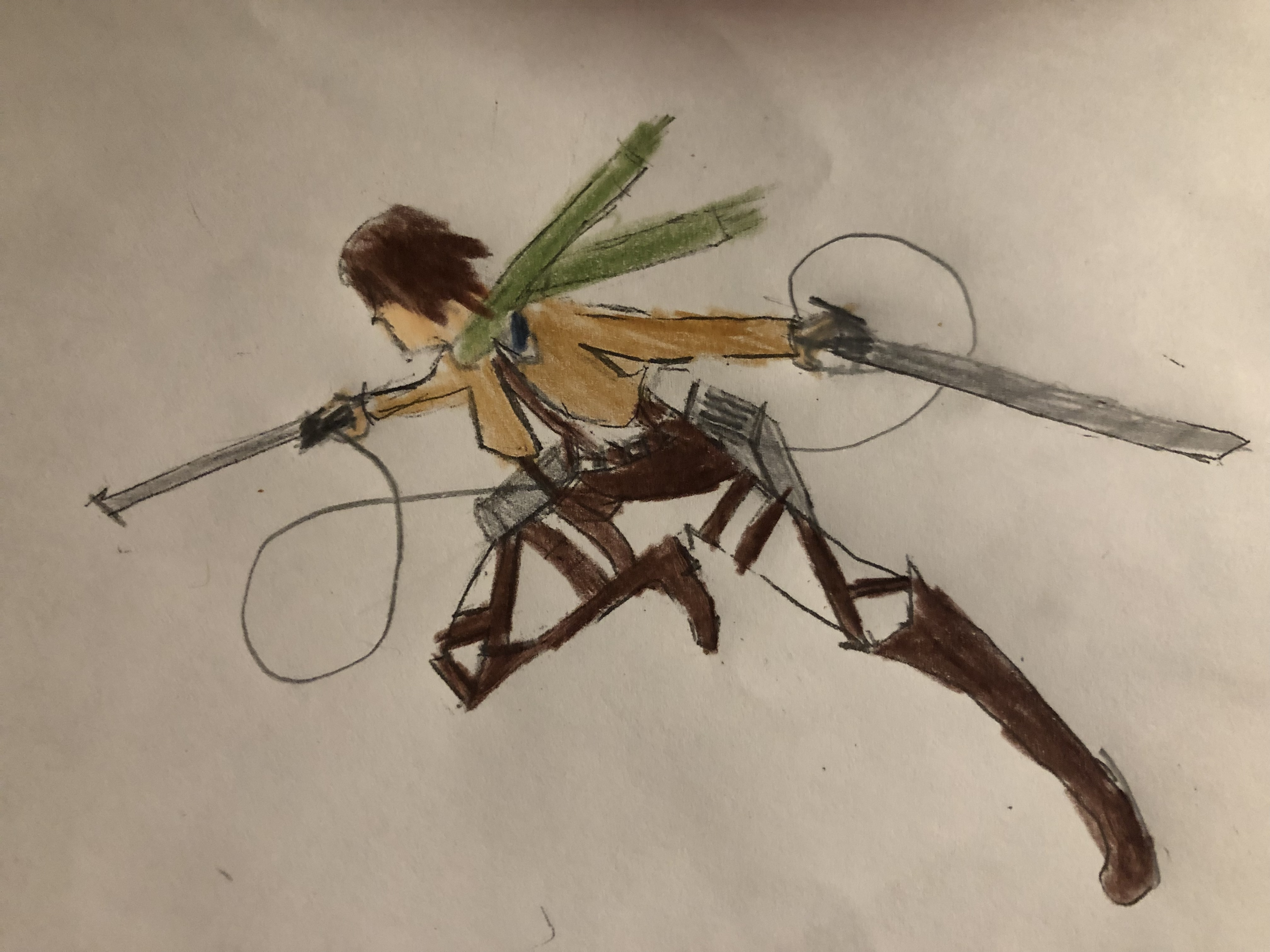 My first AoT drawing. I did it of myself as an AoT character