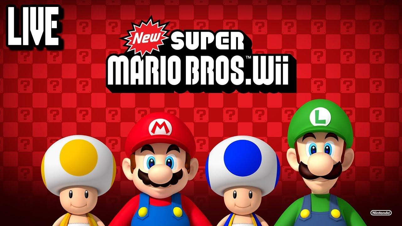 New Super Mario Bros. Wii 100% Live Stream